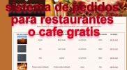 sistema de pedidos para restaurantes pitzeria snacks gratis