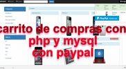 carrito de compras en php y mysql codigo