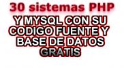 30 sistemas en php y mysql gratis descargar